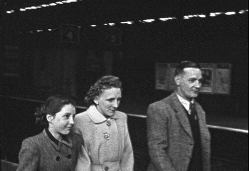 A family from Ardwick arrives at Mayfield station in central Manchester